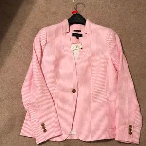 Talbots NWT pink striped blazer